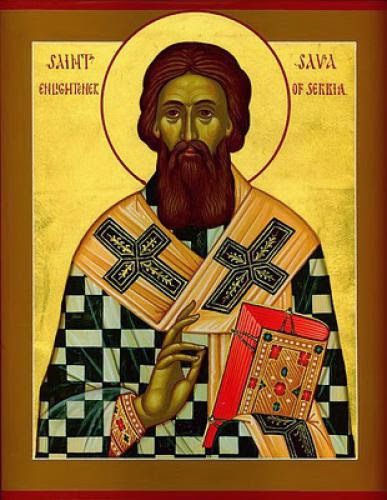 St Sava I First Archbishop Of Serbia