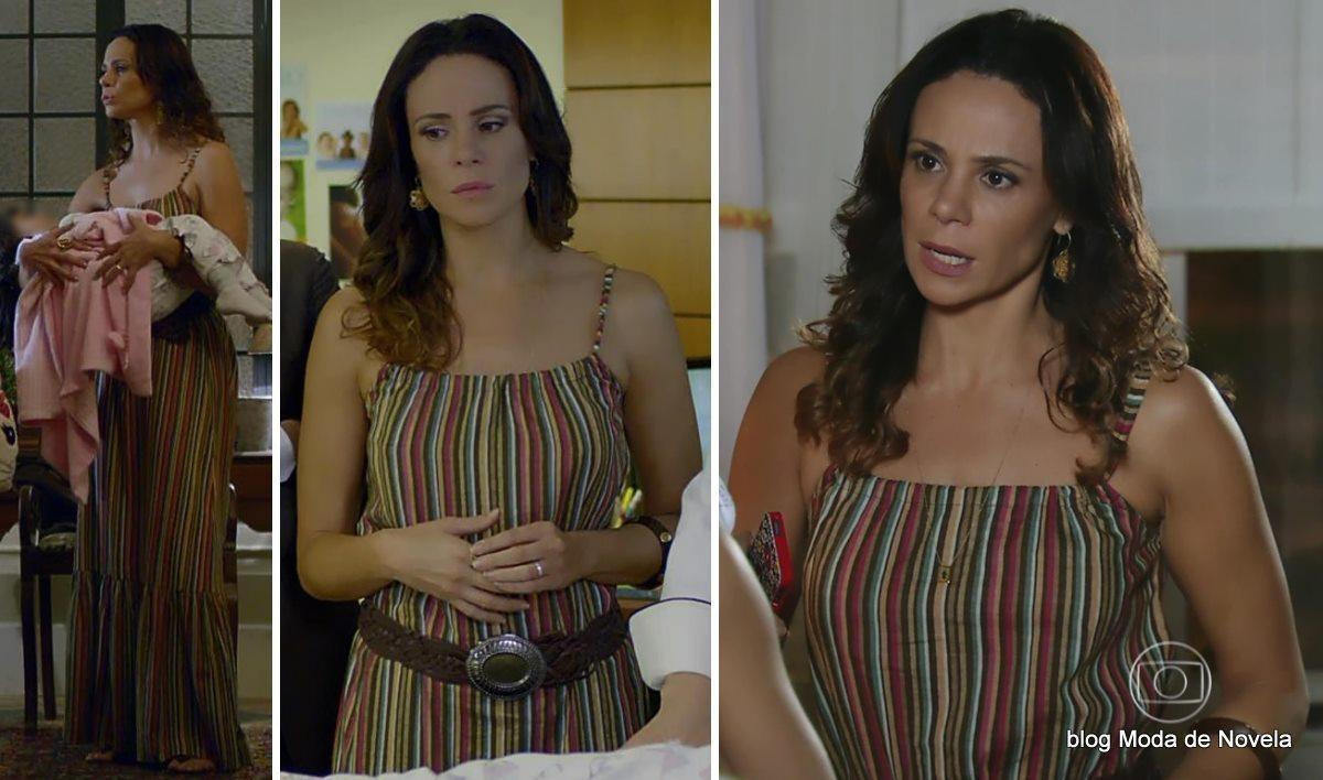 moda da novela Em Família - look da Juliana dia 18 de abril