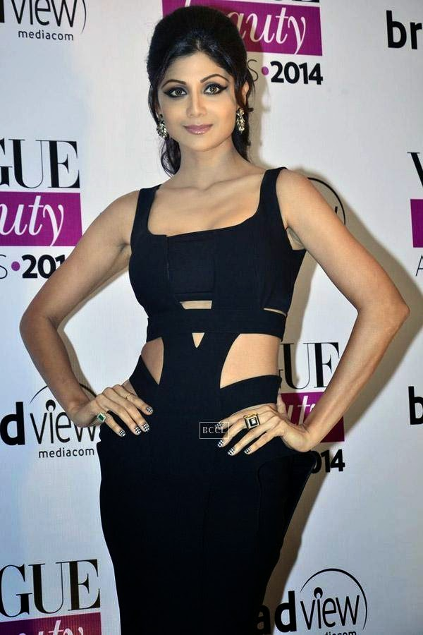 Shilpa Shetty attends Vogue Beauty Awards 2014, held at Hotel Taj Lands End in Mumbai, on July 22, 2014.(Pic: Viral Bhayani)