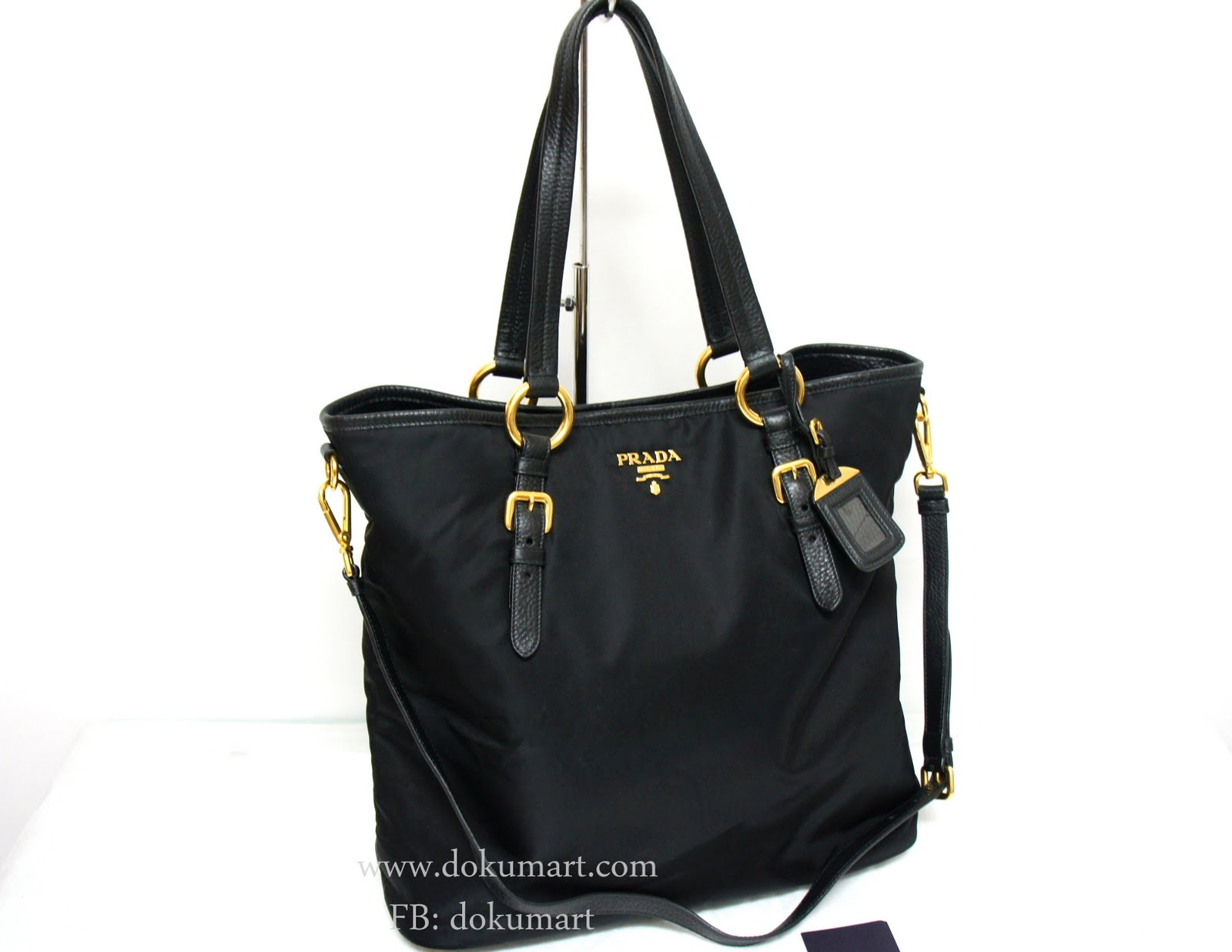 Prada Tessuto Vit. Dai Shopping Tote BR4365 - Dokumart