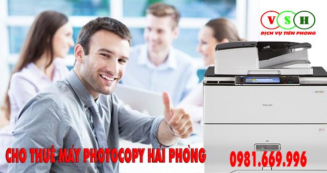 Cho thuê máy photocopy tại Hồng Bàng Hải Phòng
