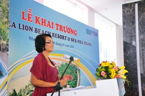 Bà Phan Quỳnh Như - Tổng giám đốc công ty Đỉnh Vàng Nha Trang