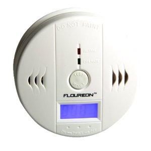 Floureon LCD CO Carbon Monoxide Detector Alarm Sensor White
