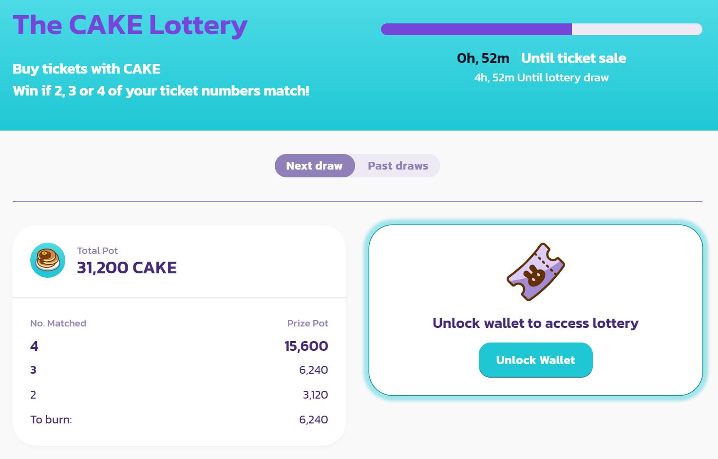 pancakeswap cake lottery