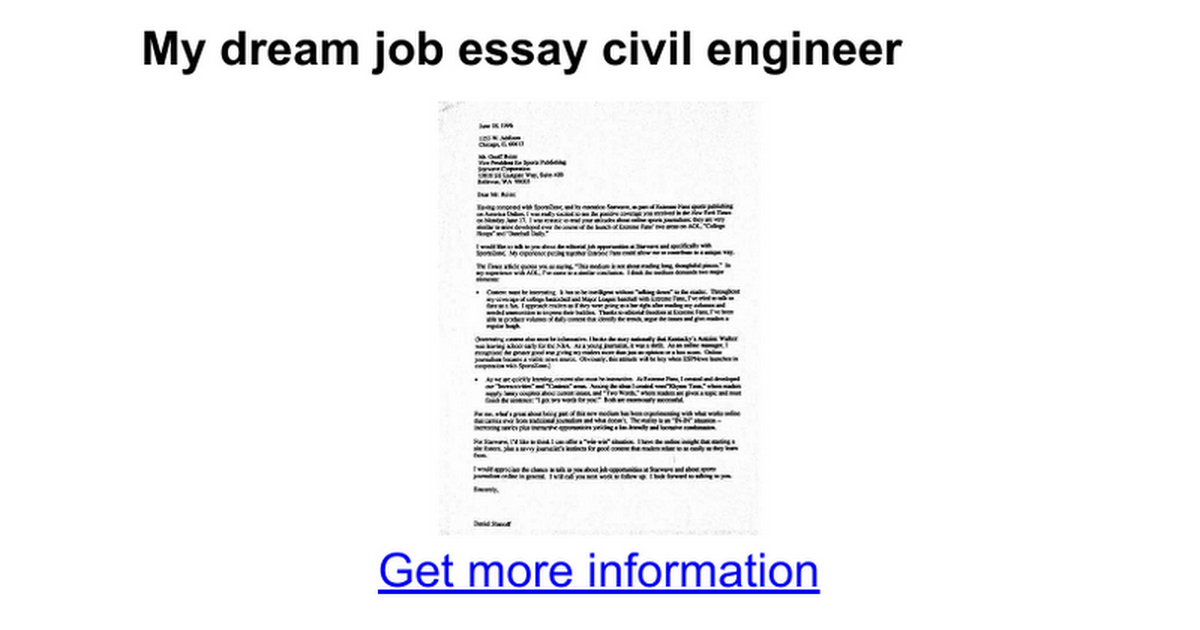 my dream job essay civil engineer google docs