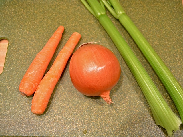 vegetables (carrots, onion and celery)