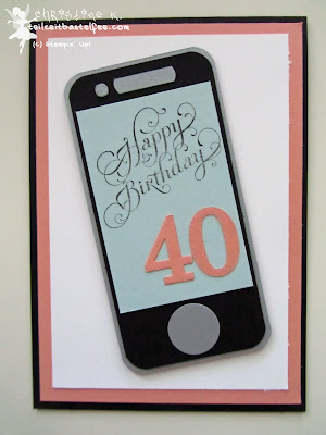 stampin up, beautiful birthday, smartphone, geburtstag, sizzlits junior alphabet, envelope punch board