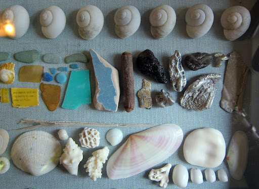 Unfortunately, not all the findings on the beach are natural. Fragments of plastic and metal make up for a lot of the colorful pieces that are in this collection.