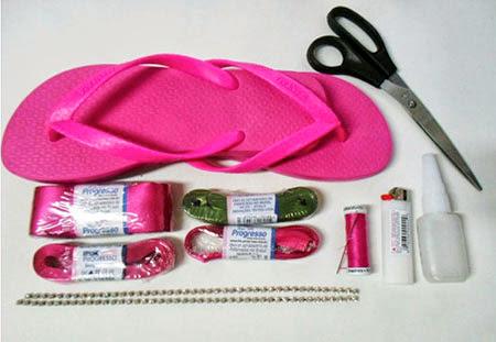 materiais para fazer sandalias decorados