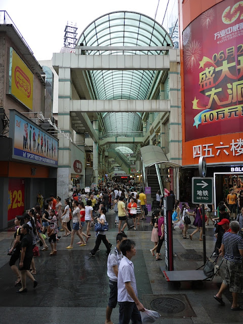 covered shopping area at Dongmen, Shenzhen, China