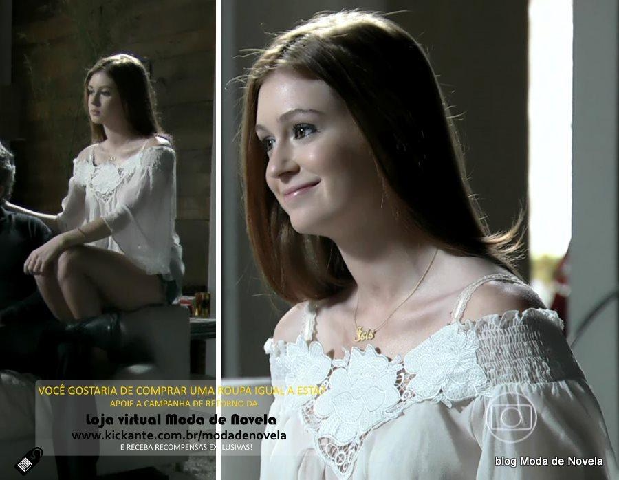 moda da novela Império, look da Maria Isis dia 21 de janeiro de 2015
