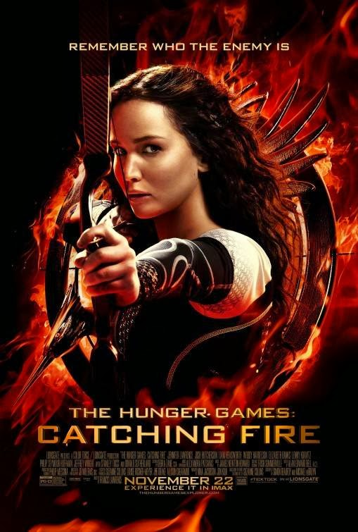 Poster Of The Hunger Games: Catching Fire (2013) Full Movie Hindi Dubbed Free Download Watch Online At Alldownloads4u.Com