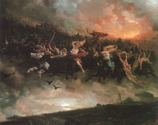 Peinture du Ragnarok auteur inconnu