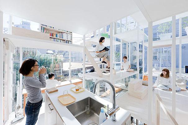 прозрачна къща в Токио, Япония