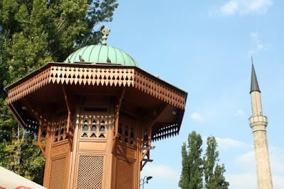 Sebilj fountain in Sarajevo Bosnia