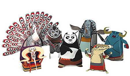 Kung Fu Panda 2 Papercraft