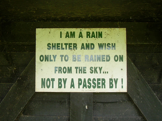 Sign in a hut at the New Malton Golf Club near Orwell