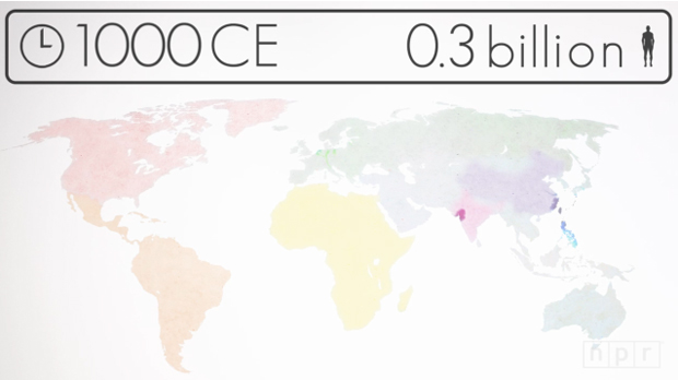 Visualizing How a Population Reaches 7 Billion