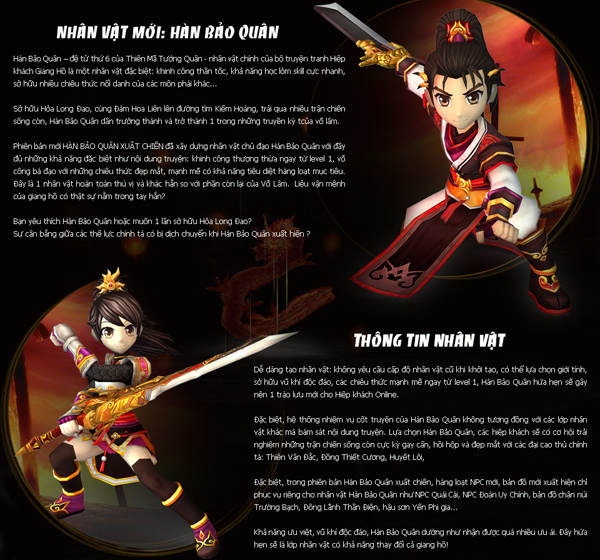 Hiệp Khách Online ra mắt nhân vật mới Hàn Bảo Quân 3