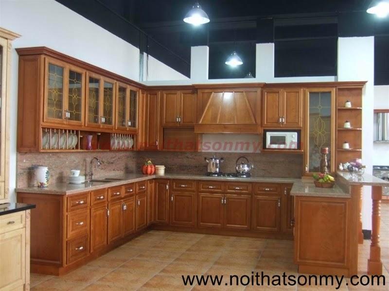 Tủ bếp gỗ đẹp SM194