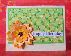 woven paper card photo