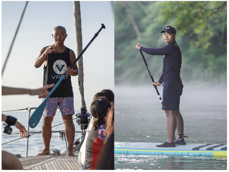 SUP平靜水域及SUP衝浪玩家,熱愛單車旅遊。對他來說SUP如同水上單車,用不同的角度慢活欣賞台灣美景、親近海洋安全卻保有高度自由的方式來體驗海洋生活