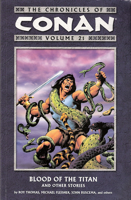 Chronicles of Conan, v. 21: Blood of the Titan and Other Stories cover