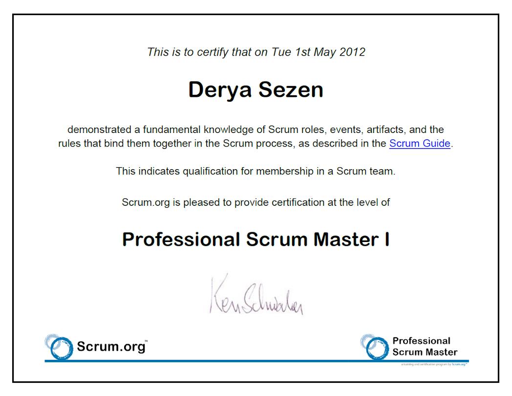 Certificates derya sezen psm 1 xflitez Image collections