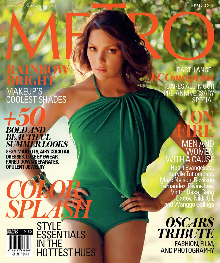 KC Concepcion on the cover of Metro Magazine (April 2011)