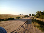 This is the road from Dodge City to our camp