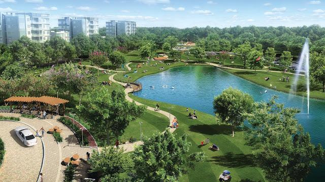 Không gian xanh tại khu đô thị Louis City