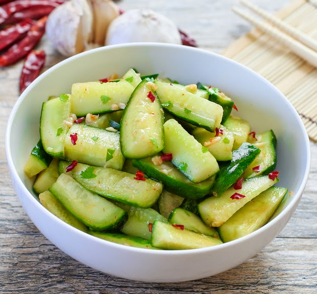 ... to eat cucumbers is Chinese-style cucumber salad. Crisp cucumber