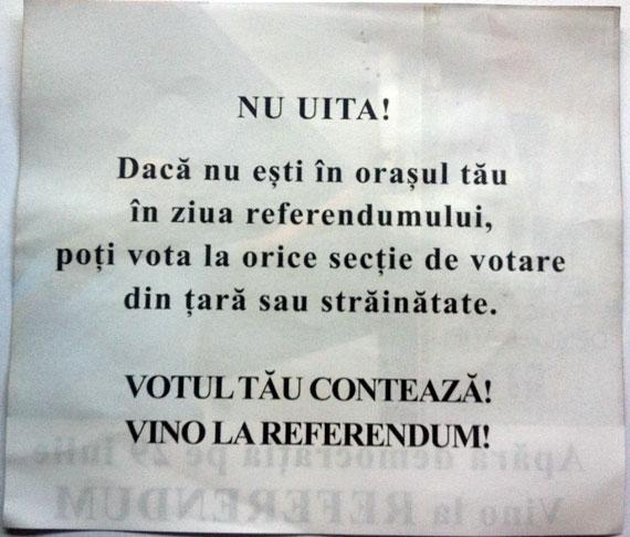 Referendum pentru demiterea preşedintelui suspendat Traian Băsescu