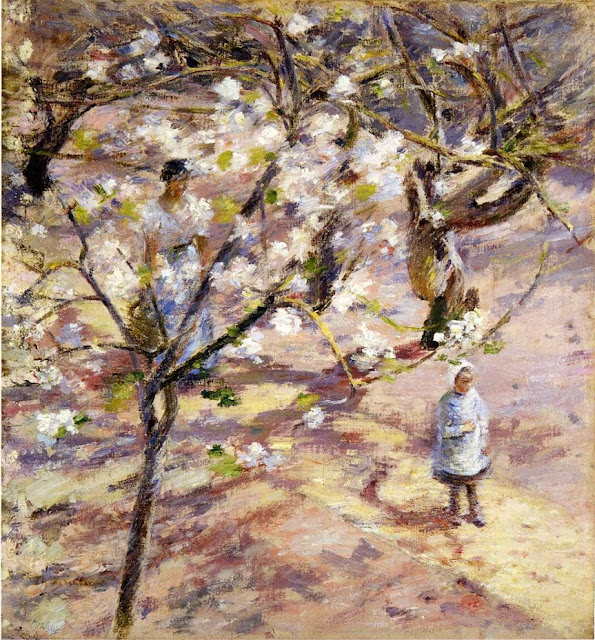 Theodore Robinson - Blossoms at Giverny