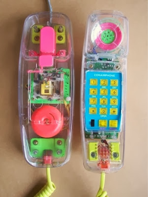 see through phones! I love the 80's www.thebrighterwriter.blogspot.com