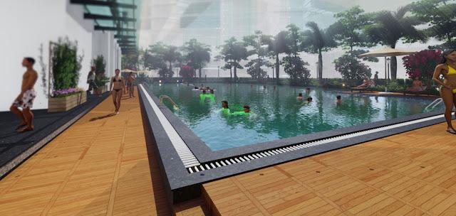 Bể bơi vô cực dự án An Bình Plaza -Mỹ Đình