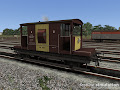 CAR Brake Van for RailWorks: A Dia 1/507 van in bauxite and yellow livery.