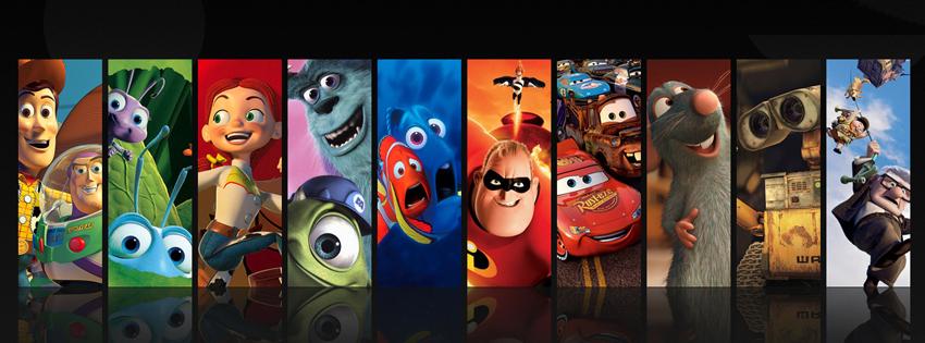 Portadas para facebook Personajes películas de Disney Pixar