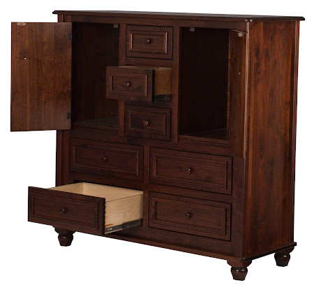 Lotus Wardrobe Dresser in Ruby Walnut