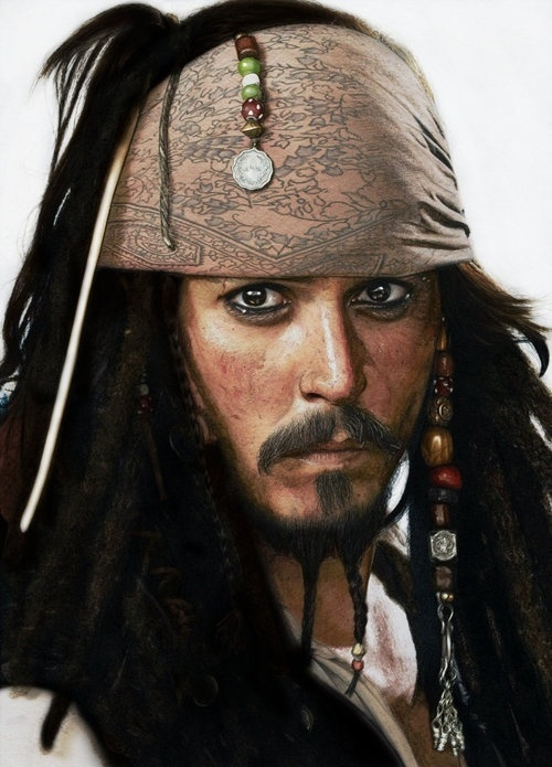Jack Sparrow In Crayon