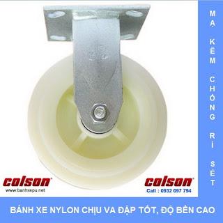 Bánh xe Nylon bánh xe đẩy chịu tải trọng ( 243~370kg) banhxepu.net