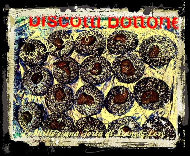 biscotti bottone ripieni di nutella