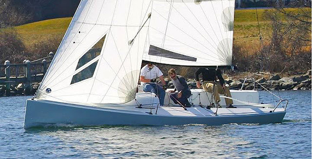 J/70 one-design speedster sailboat- sailing upwind