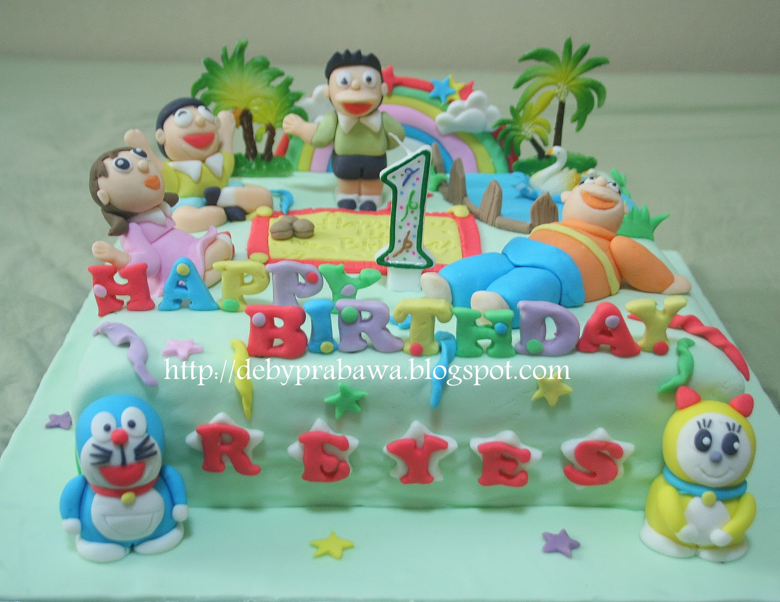 Cake Design Doraemon : Butterfly Cake: Doraemon and friends - 3D Cake