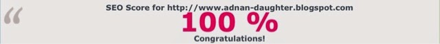 SEO score for http://www.adnan-daughter.blogspot.com