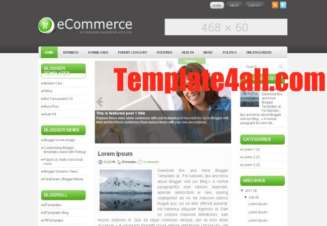 Business Ecommerce Blogger Layout Template