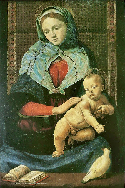 Piero di Cosimo - Madonna and Child with a dove