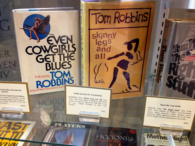Tom Robbins, Even Cowgirls Get the Blues, and Skinny Legs and All, at the Seattle Antiquarian Book Fair 2014.