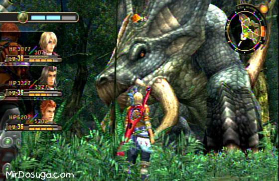 Шулк из Xenoblade и Динозавр