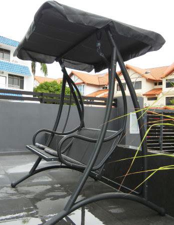 grey colour modern outdoor swing